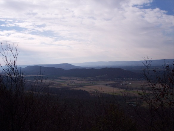 View from the final ridge