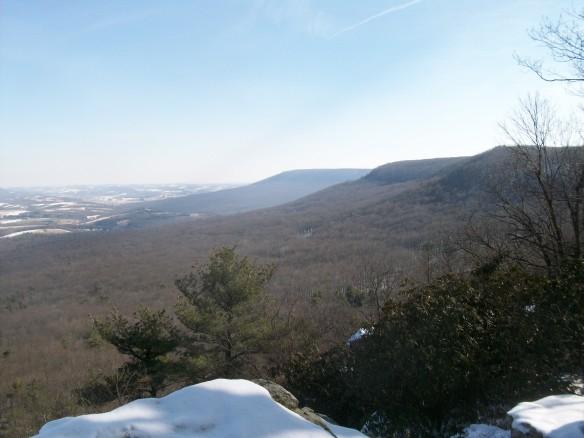 Series of ridges.  The Pinnacle is on the furthest ridge.