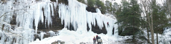 Ice climbers at Kasson Falls