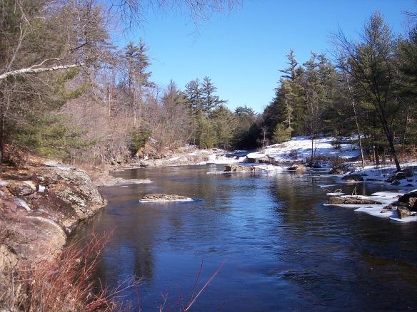 The creek below the falls