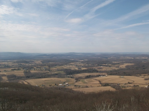 Osterhout or Shadwbrook Mountain in the center of the photo.