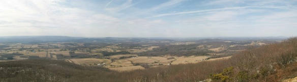 Panorama from the summit of Bald Mountain.  Elk Mountain is to the far right.