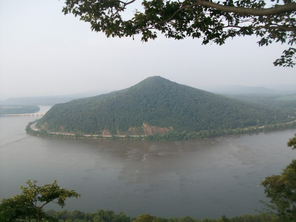 View of Peters Mountain and the massive Susquehanna River