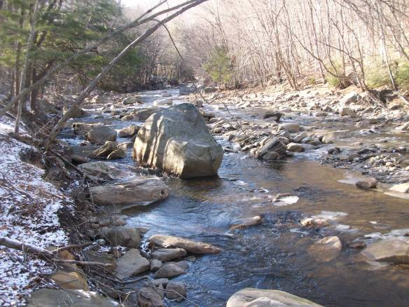 Boulders in the upper Mehoopany Creek