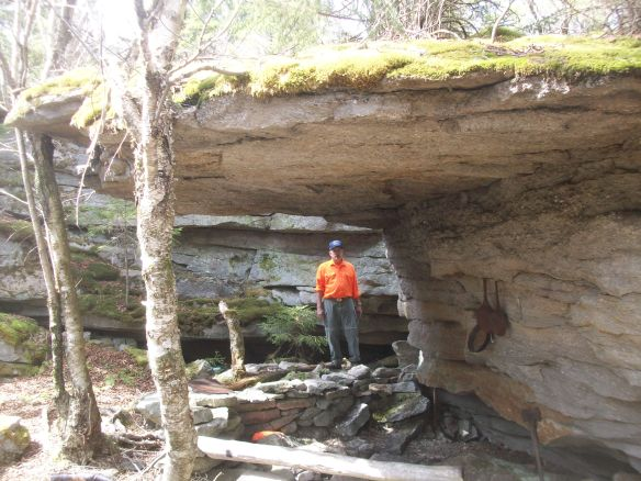 At the rock shelter
