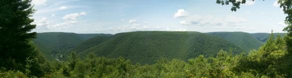 View over Sinnemahoning Creek