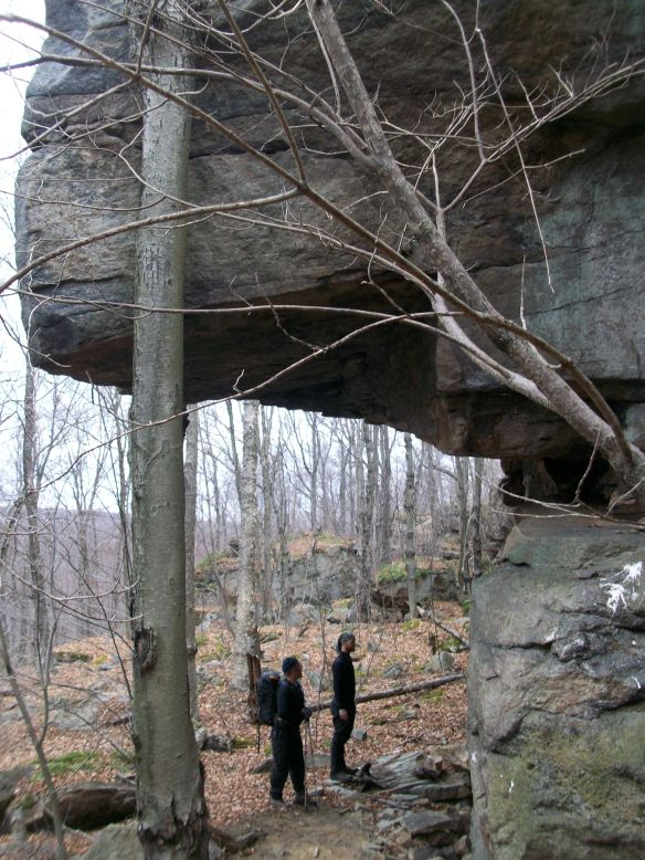 Massive overhang off of the High Knob Trail