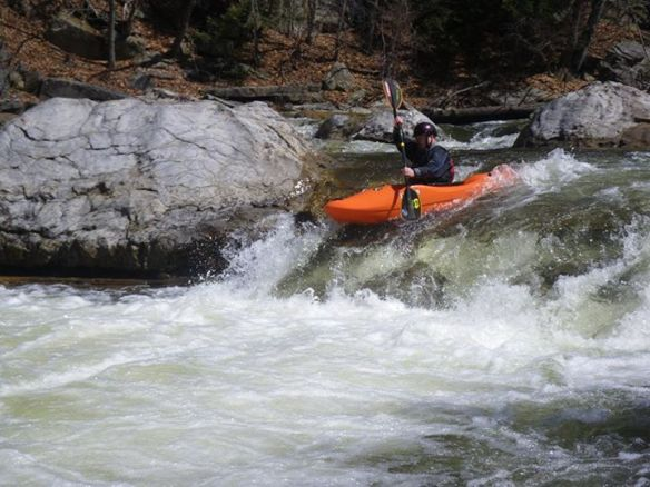 Jay Lewis running Haystacks Rapids.  Photo by Steve Graley.
