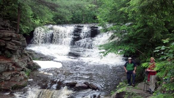 Hikers enjoying Choke Creek Falls